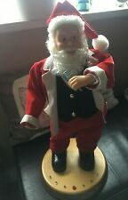 """Hip Swinging Singing """"Here Comes Santa Claus"""" Father Christmas Gemmy"""