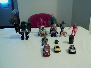mixed action figure lot of 15 items 10 figures