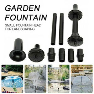 8pcs Plastic Fountain Pump Nozzles Pond Submersible Pool Water Spray Heads Kit