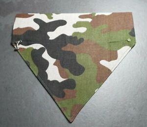 Handmade Dog Bandana Neckerchief Gift  Camouflage