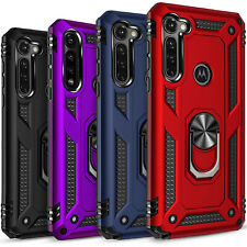 For Motorola Moto G Stylus Case, Ring Kickstand Cover + Tempered Glass Protector