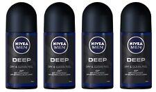 4x Nivea Men Deep Anti-perspirant Deodorant Roll On for Men FREE SHIP