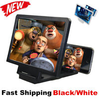 UK Mobile Phone Screen Magnifier 3D HD Video Amplifier Smartphone Stand Bracket~