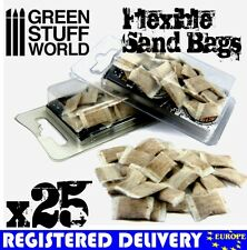 25x flexible SANDBAGS - Basing Model sand bag trench 40k tank armor Juweela