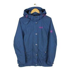 Jack Wolfskin Texapore Womens Blue Waterproof Windproof Rain Coat - Size UK 10