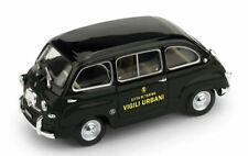 Fiat 600 multipla 1956 vigili urbani torino 1:43 forze dell'ordine brumm scala