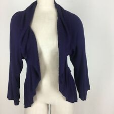 Kenar Woman's sweater cardigan shrug purple size medium
