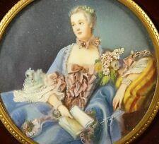 Miniature Portrait Madame de Pompadour  Lupenmalerei  Miniaturmalerei