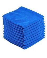 5 x Monster Detail Large Blue Car Wax/Polish Soft Microfibre Buffing Cloths