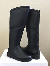 UGG KENDI BLACK KNEE HIGH CLASSIC SLIM LEATHER WEDGE BOOT US 9 / EU 40 / UK 7.5