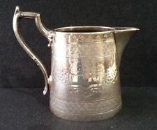 Antique James Dixon Silver Plate EPBM Milk Jug  (B48NOV)