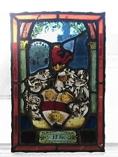 Vitrail heraldique verre plomb noblesse armoiries / Ancient stained glass lead