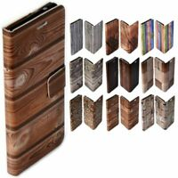 For Samsung Galaxy Series - Wood Timber Print Wallet Mobile Phone Case Cover #2