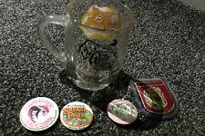 West Midlands Safari Park vintage memorabilia badges and glass mug
