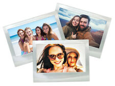 3 Shot2Go Metallic Silver Fridge Frame (Holds a 6x4 inch photo)