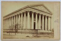 CHIESA Di La Madeleine Foto E.Ladrey Carta Armadio Vintage Albumina 1880