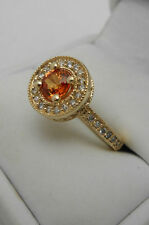 EFFY 14k Yellow Gold Diamond Sapphire Ring size 5