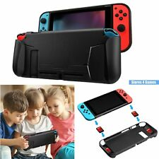 TPU Case Shell For Nintendo Switch NS Console Handle Grip with 4 Game Card Slot