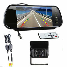 """Wireless IR Rear View Back up Camera Night Vision System + 7"""" Monitor For Truck"""