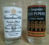 (1) Canadian Club Glass & (1) Seagram's 100 Pipers Scotch Whisky Glass