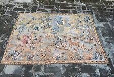 Vintage French Hunting Scene Tapestry 146x104cm (A845)