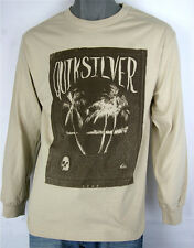 Quiksilver Long Sleeve Shirt Navy Island Palm 1969 100% Cotton Quiksilver Surf