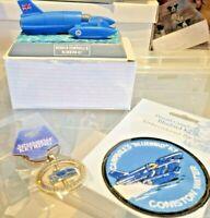 Donald Campbells Bluebird k7 model desk top SEW ON BADGE AND KEYRING