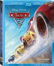 Cars 3 Pixar Disney Blu ray + DVD + Digital 2017 Animation With Slipcover Sealed