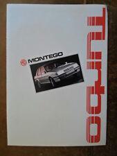 Mg Montego Turbo Orig 1986 holandés folleto de ventas deplaint-Austin ref EO256