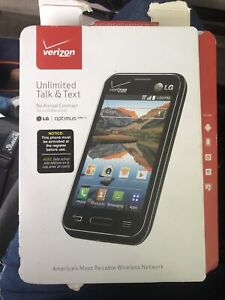 """Verizon LG Optimus Zone 2 Prepaid Android Smart Cell Phone, 3.5""""  Read As Is"""