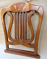 Antique Wood Chair Back redefined wall decor small shelf Multipurpose artifact