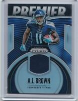 AJ Brown 2019 Panini Silver Prizm Rookie Relic Titans RC hot!!!