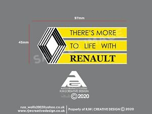 Renault 'There's more to life with Renault' Windscreen Sticker