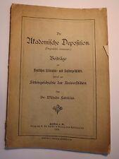 Wilhelm Fabricius - Die Akademische Deposition - 1895