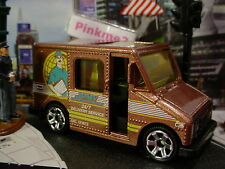 2015 CITY WORKS Design DELIVERY SERVICE TRUCK☆Brown; JPMV 24/7☆LOOSE☆Matchbox