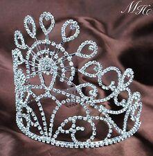 """Marvelous Wedding Bridal Tiara Hair Combs 5.5"""" Crystal Rhinestone Pageant Crown"""