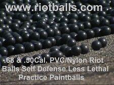 500 X .68 Cal. PVC/Nylon Riot Balls Self Defense Less Lethal Practice Paintballs