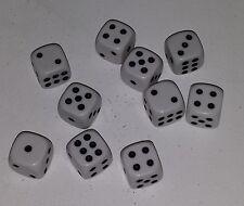 € 0,37/St. 25 Stück 16mm Weisse Würfel / Augen Würfel Spielwürfel  Knobelwürfel