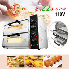 Electric Double Deck Pizza Oven Commercial Toaster Bake Broiler Oven 3000w Usa