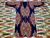 SALE!!! Uzbek Vintage National Cotton Robe Dress chapan Caftan