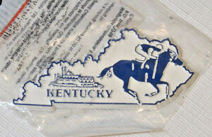 The Original Collectables Magnet State Kentucky boat horse racing NOS