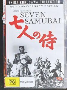 The Seven Samurai, Akira Kurosawa, ANNIVERSARY EDITION ( Region 4 DVD ) FreePost