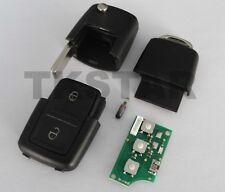 433Mhz Auto Schlüssel 2-Tasten Fernbedienung für VW + Transponder 1J0959753 CT