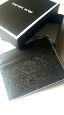 NEW Michael Kors Men's Jet Set MK Logo Card Case Holder Wallet~ Black/White $48