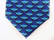 """TROLLS $75 MEN Blue Novelty Skinny WIDTH 3"""" CASUAL DRESS SHIRT NECK TIE SALE B15"""