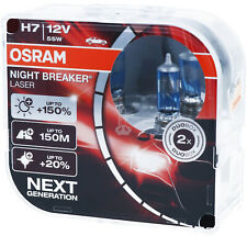OSRAM H7 Night Breaker LASER Next Generation 150% mehr Helligkeit Power DUO BOX