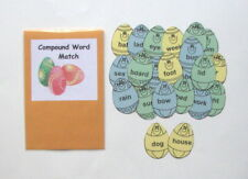 Teacher Made Literacy Center Learning Resource Game Compound Words