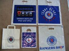 5 Rangers FC souvenir plastic and paper merchandise bags