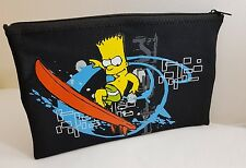 The Simpson Bart Black Pencil Tablet Case Pouch Surfing Surf  School Home Office