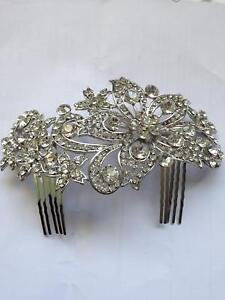 Sparkling Diamante  Crystal Flower Vintage Hair Accessories Women